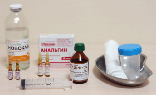 Компресс с Димексидом для снятия боли, отека, воспаления